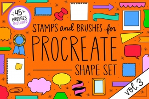 Procreate Stamp Shapes Set Vol.3
