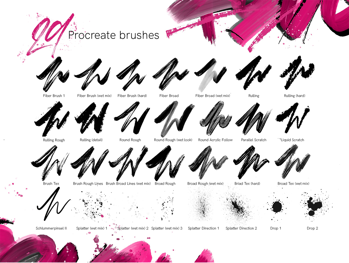 Rough Pack - Texture Brushes For Procreate