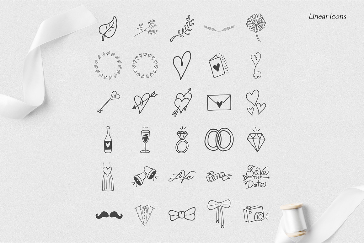 Rustic Wedding Icons