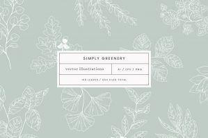 Simply Greenery Vector Illustrations