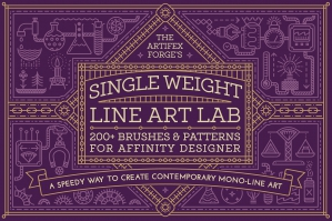 Single Weight Line Art Lab - Affinity