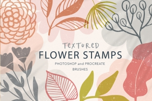 Textured Flower Stamp Brushes
