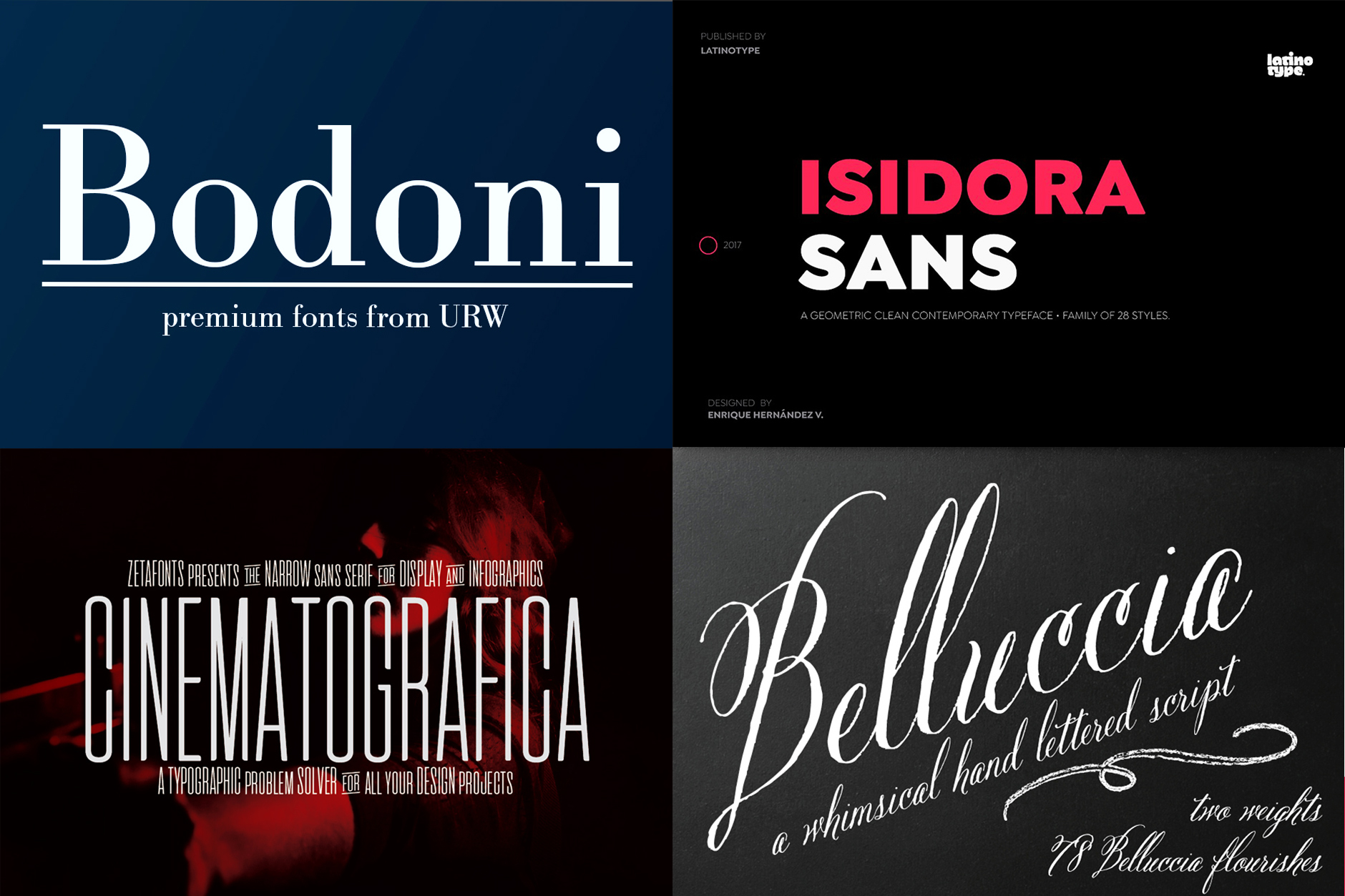 The Professional, Versatile Font Selection - Re-Run