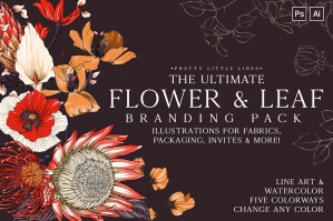 The Ultimate Flower & Leaf Branding Pack