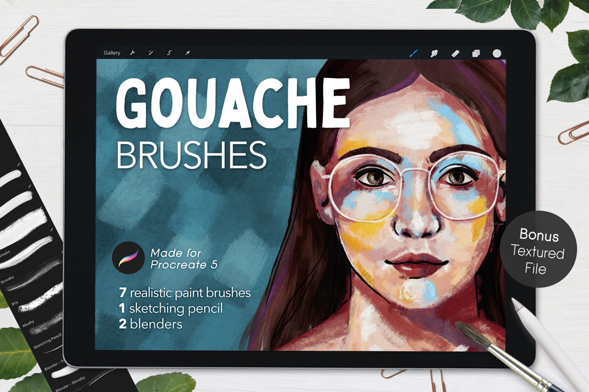 Ultimate Gouache Brushes For Procreate
