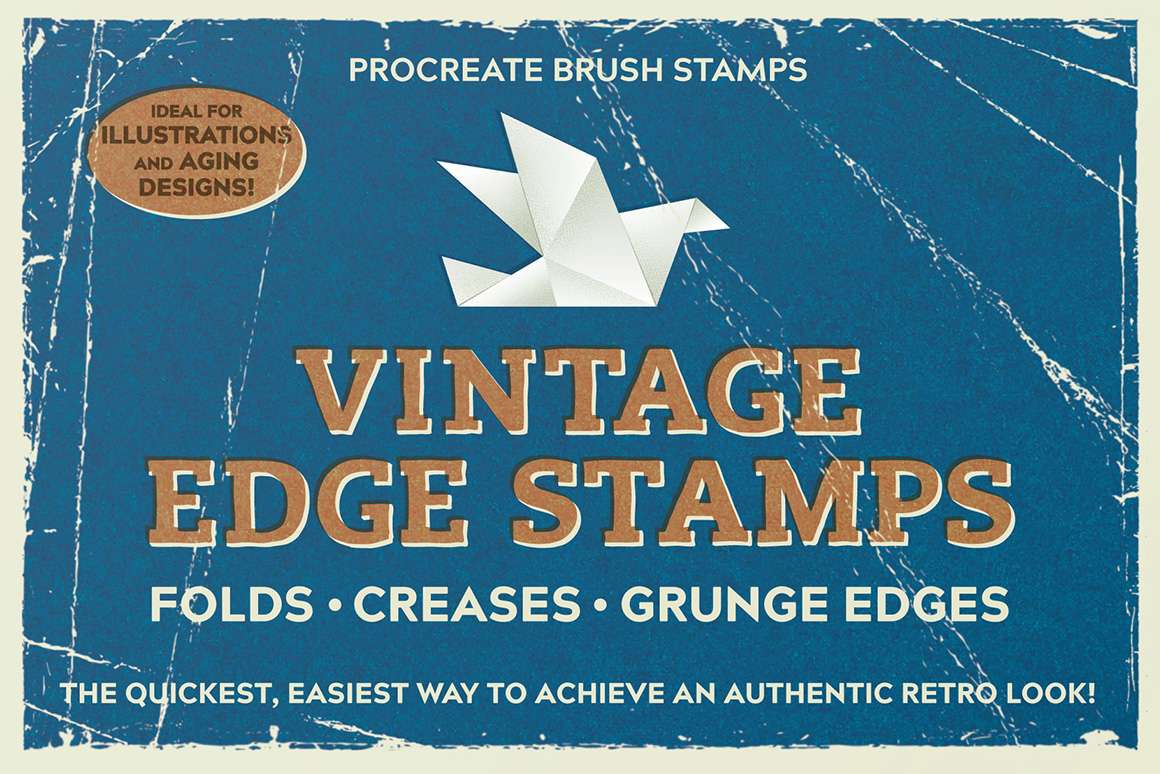 Vintage Edge Stamp Brushes - Procreate