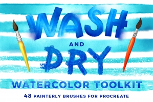 Wash & Dry for Procreate