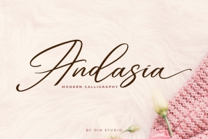 Andasia - Modern Calligraphy Font