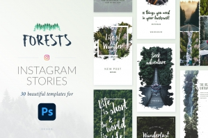 Instagram Stories Forests Pack - Photoshop
