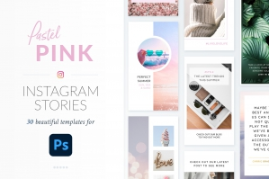 Instagram Stories Pastel Pink Pack - Photoshop