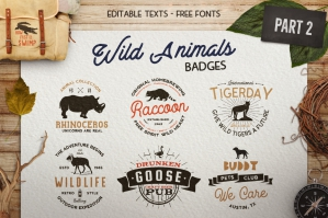 12 Wild Animals Logos Templates Badges Part 2