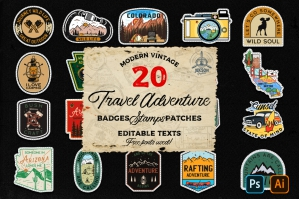 20 Camp Adventure Badges Patches