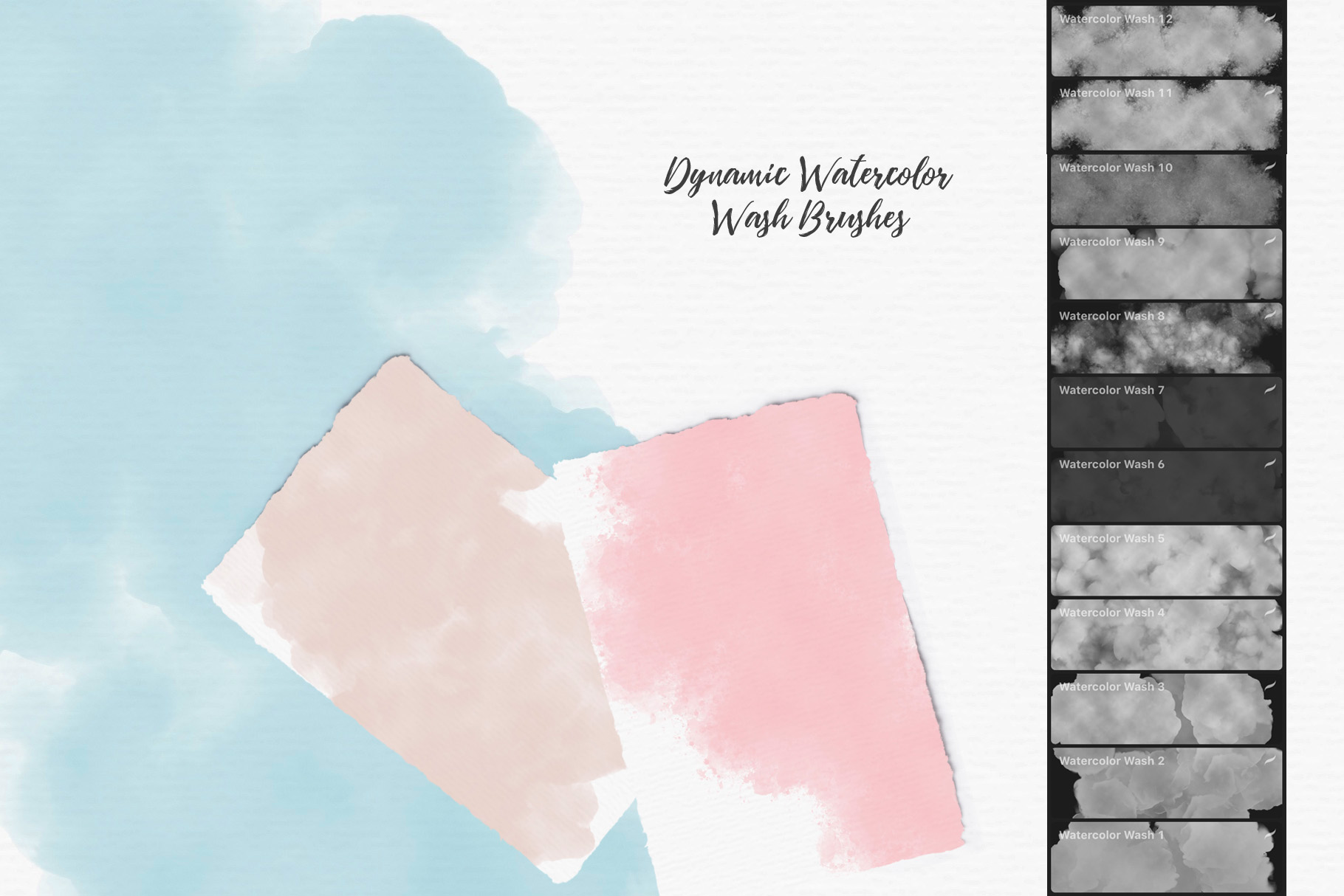 244 Watercolor Brushes For Procreate