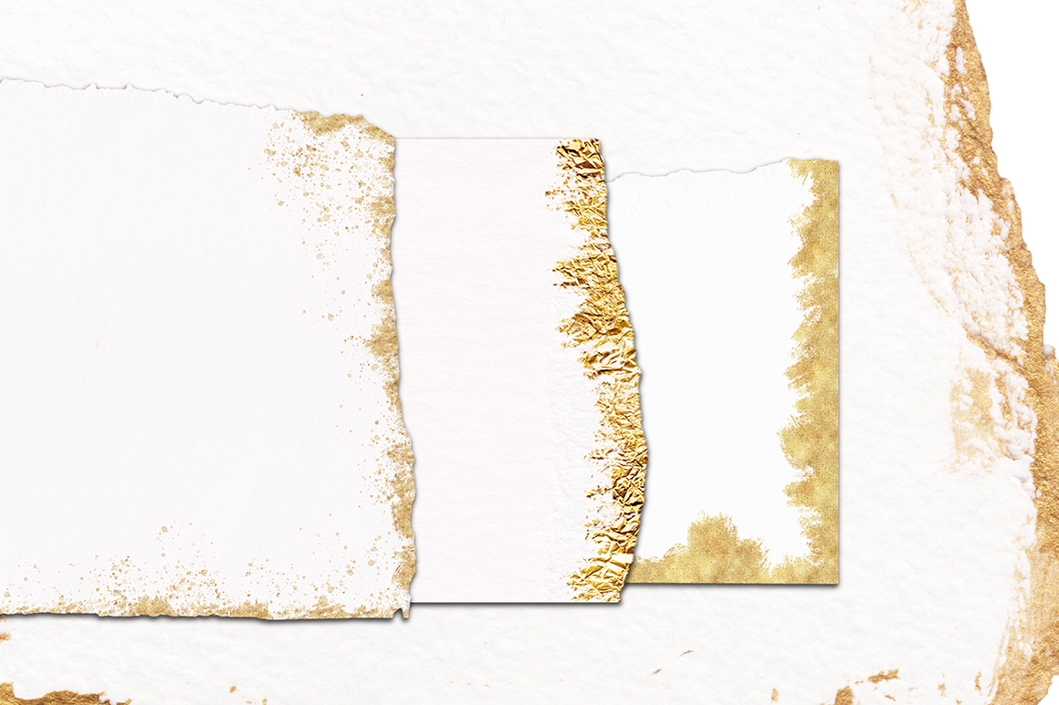 40 Gold Plated Torn Paper Elements