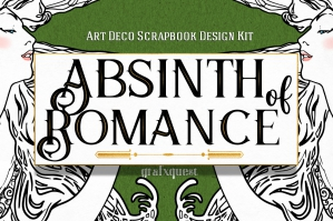 Absinth of Romance - Art Deco Scrap & Design Kit