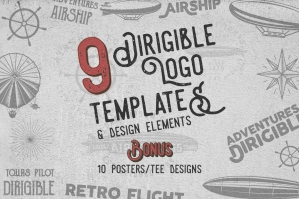 Airship Badges & Dirigible Design Elements