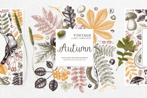 Autumn Cards & Invitations Set