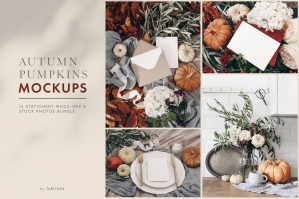 Autumn Pumpkins Stationery Mockups & Photos Set