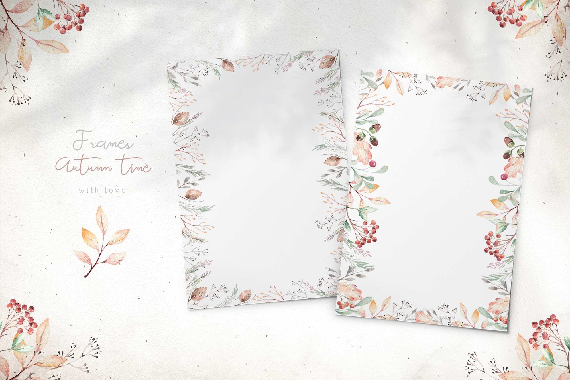 Autumn Time Watercolor Collection