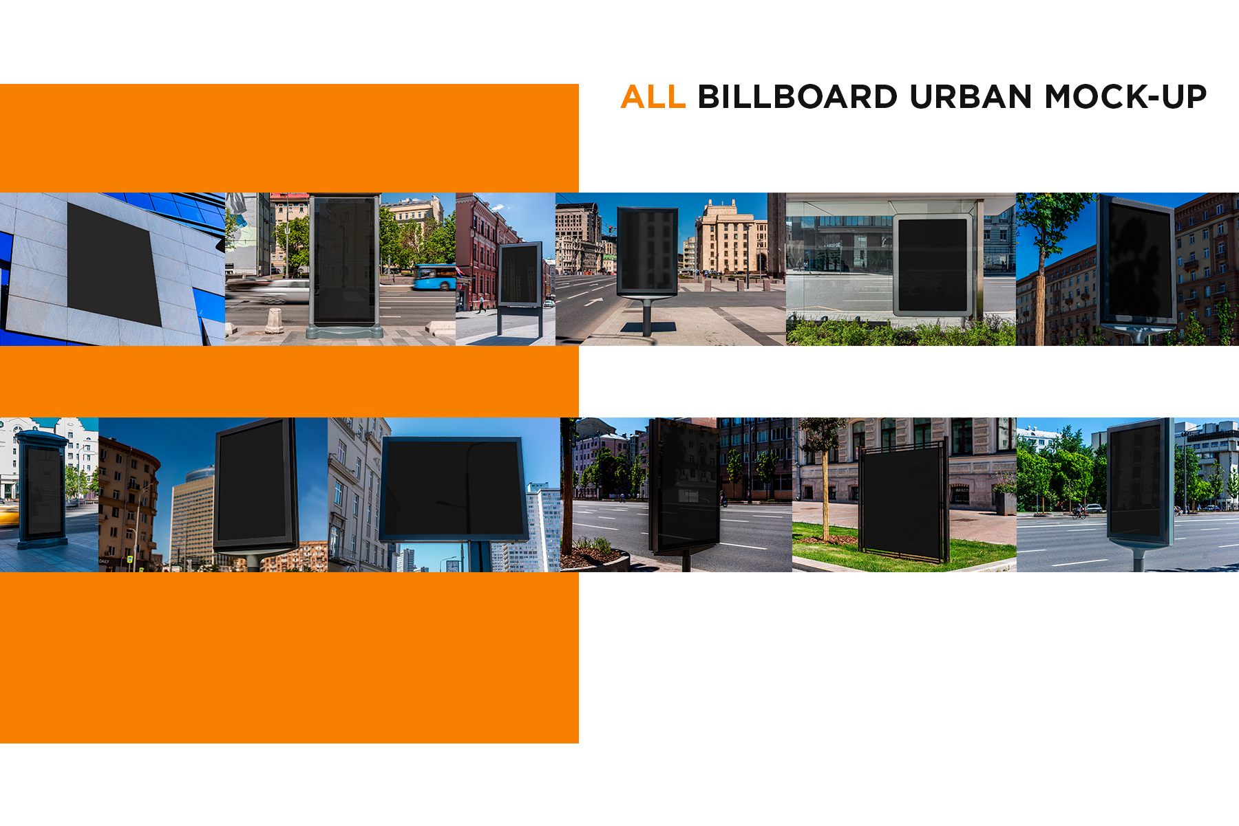 Billboards Urban Mock-Up