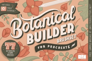 Botanical Builder Brushset for Procreate
