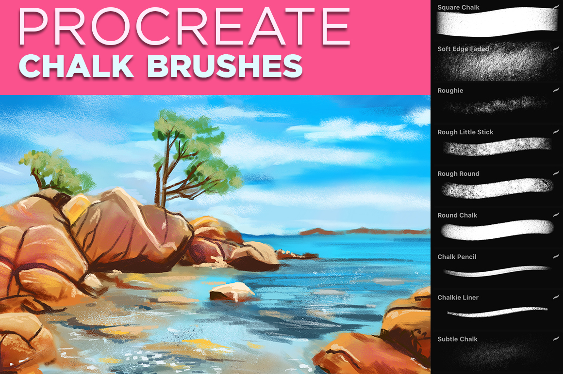 Chalk Textured Brushes for Procreate