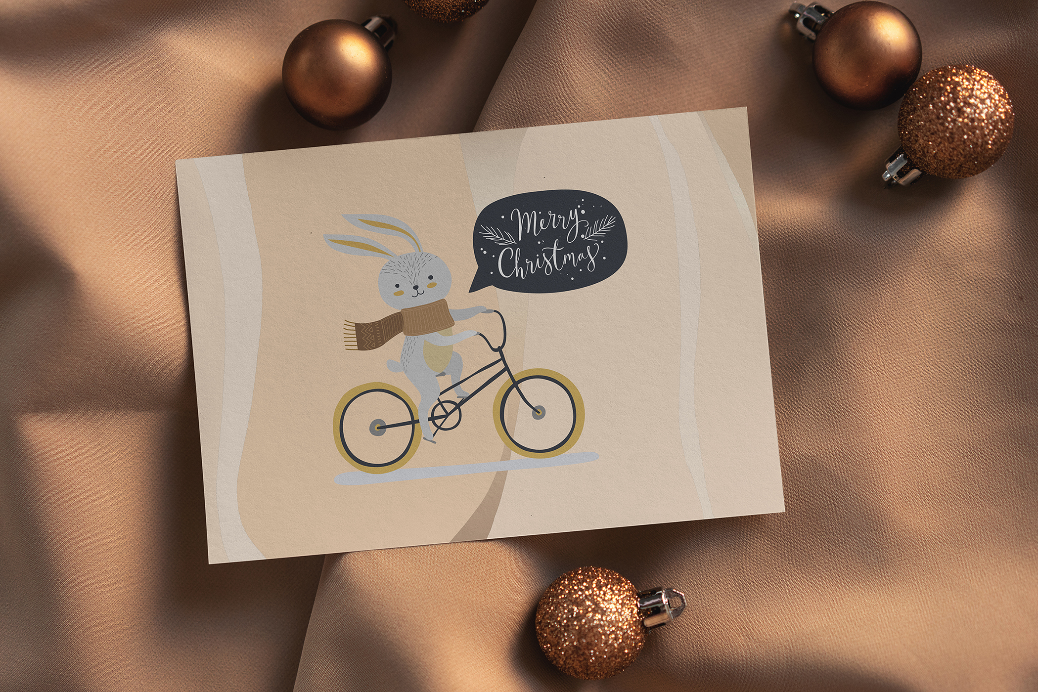 Christmas Postcard Mock-Ups