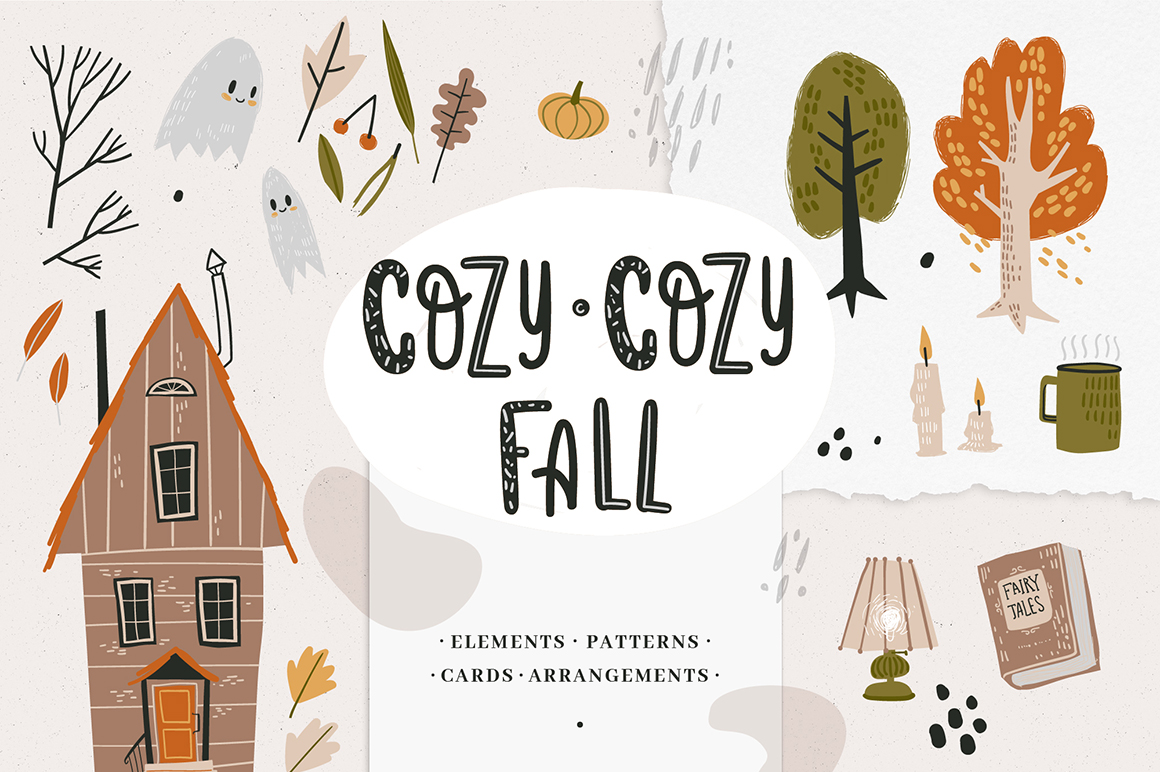 Cozy-Cozy Fall Clipart Collection