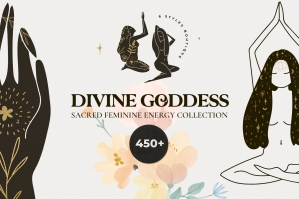 Divine Goddess - Feminine Magic & Celestial Kit