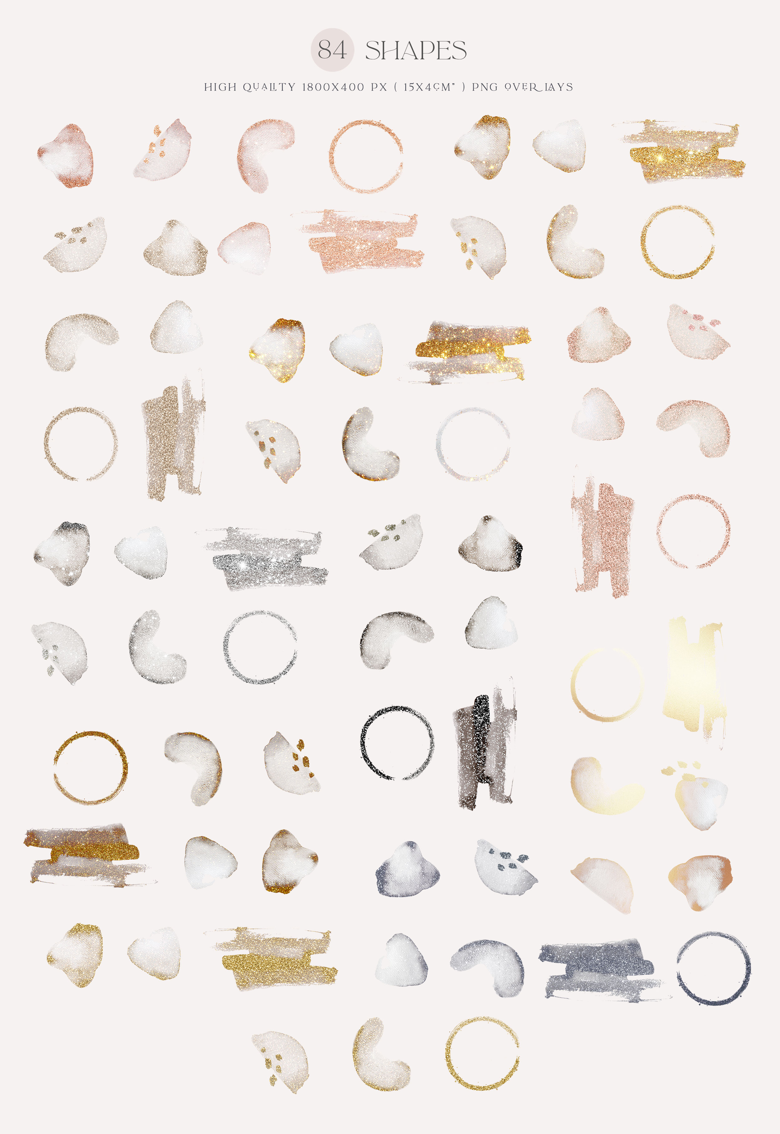 Gold Watercolor Shapes 2