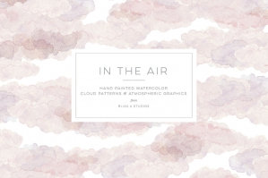 In the Air - Hand Painted Cloud Patterns & Objects