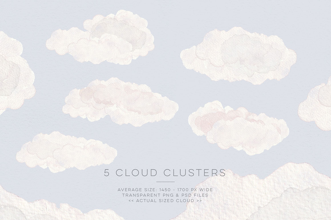 In the Air: Hand Painted Cloud Patterns & Objects