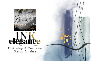 Ink Elegance - Photoshop & Procreate Stamp Brushes