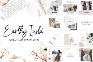 Instagram Templates in Earthy Style