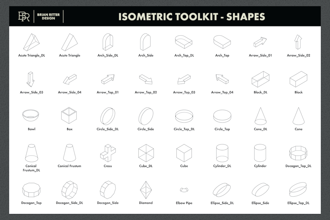 Isometric Toolkit for Procreate