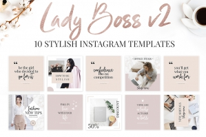Lady Boss Instagram Templates