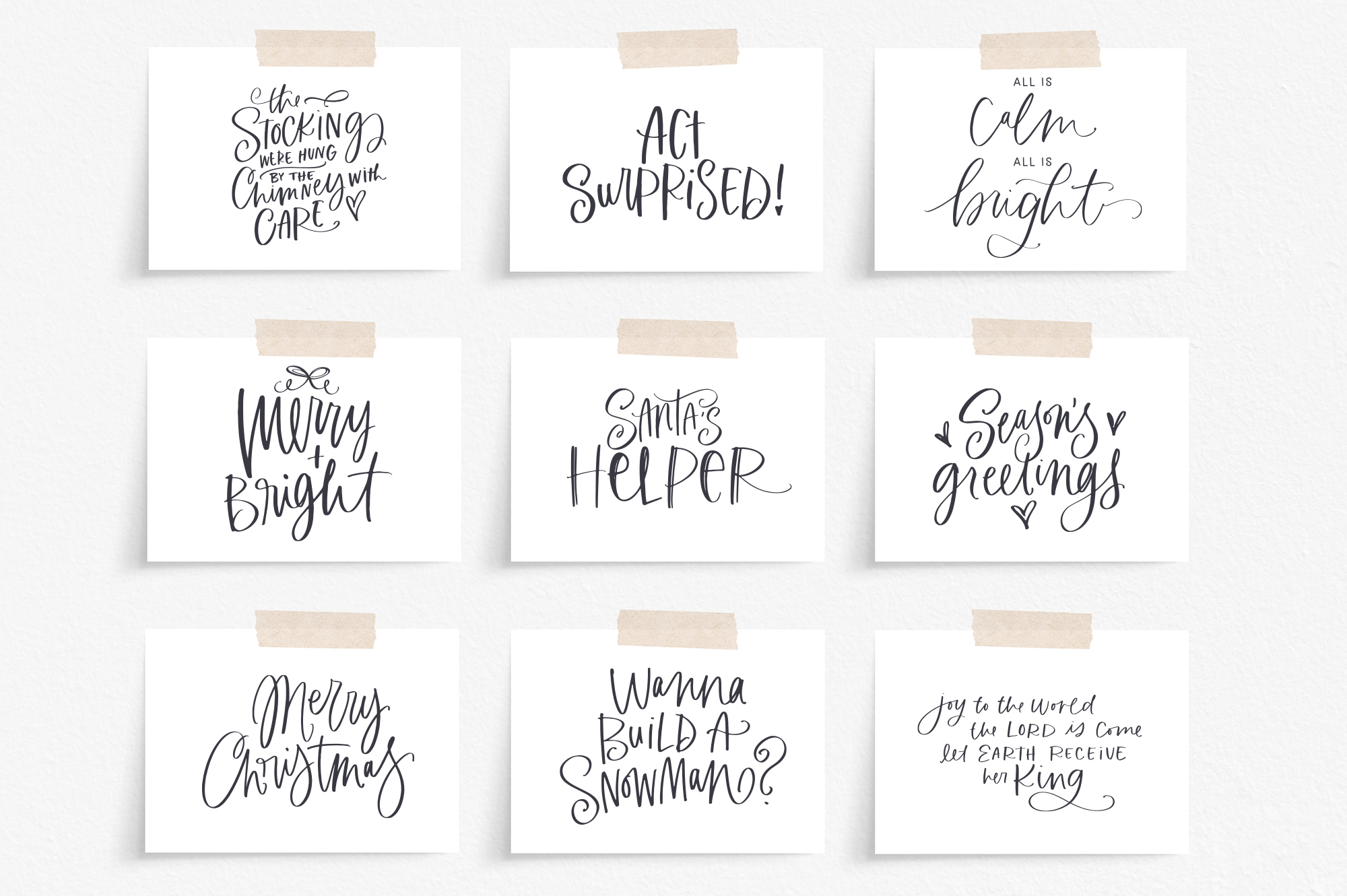 Merry & Bright Holiday Lettering Kit