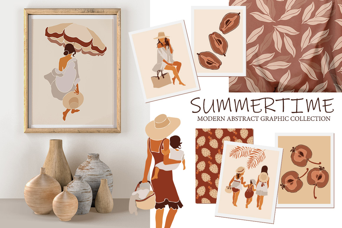 Modern Abstract Women Illustration Kit