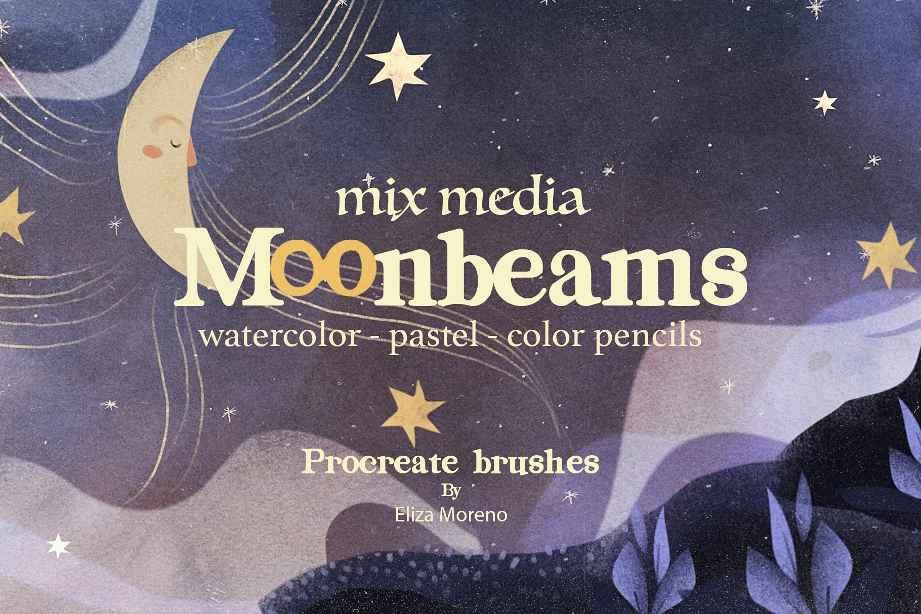 Moonbeams Mix Media Brushes for Procreate