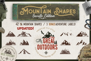 Mountain Shapes & Labels Collection