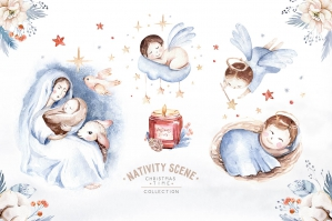 Nativity Scene Magic Christmas Time