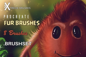 Procreate Furry Brushes