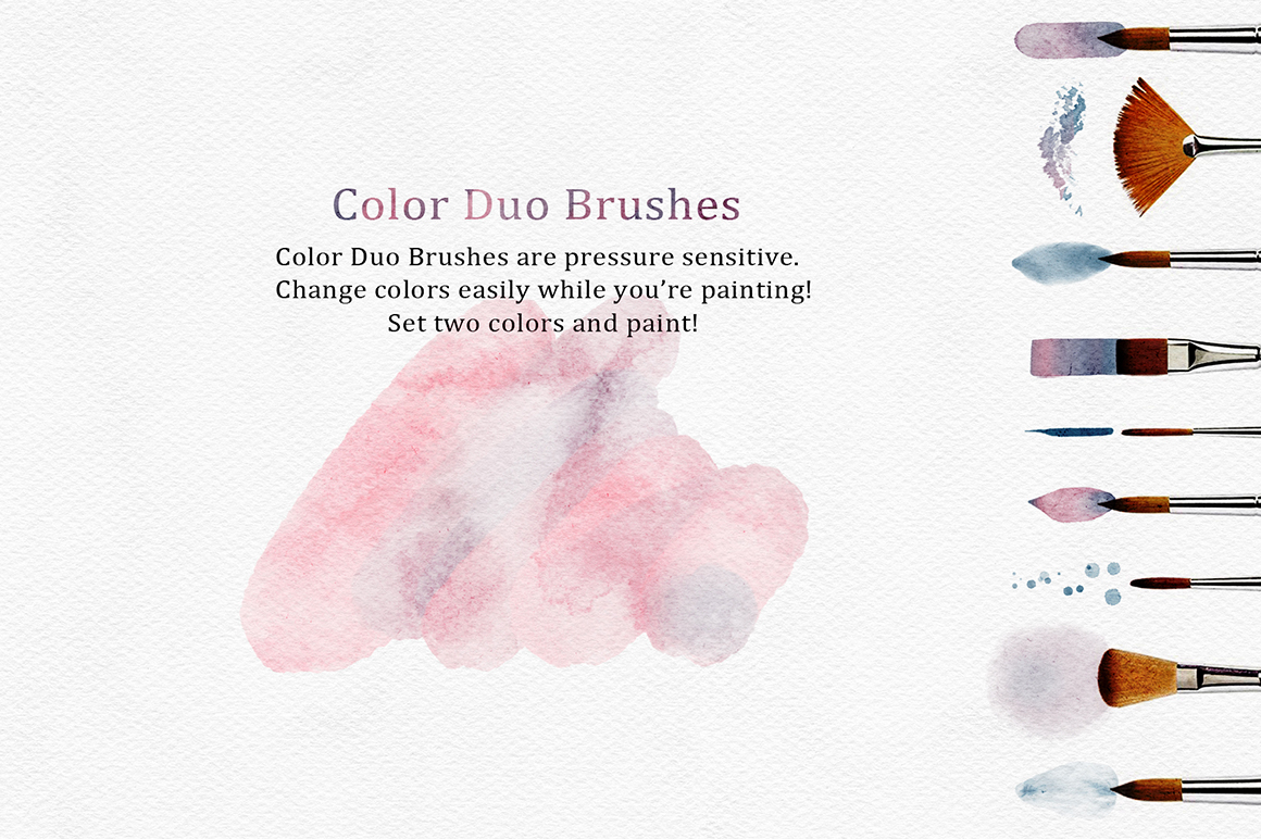 Procreate Watercolor Brushes and Paper Kit