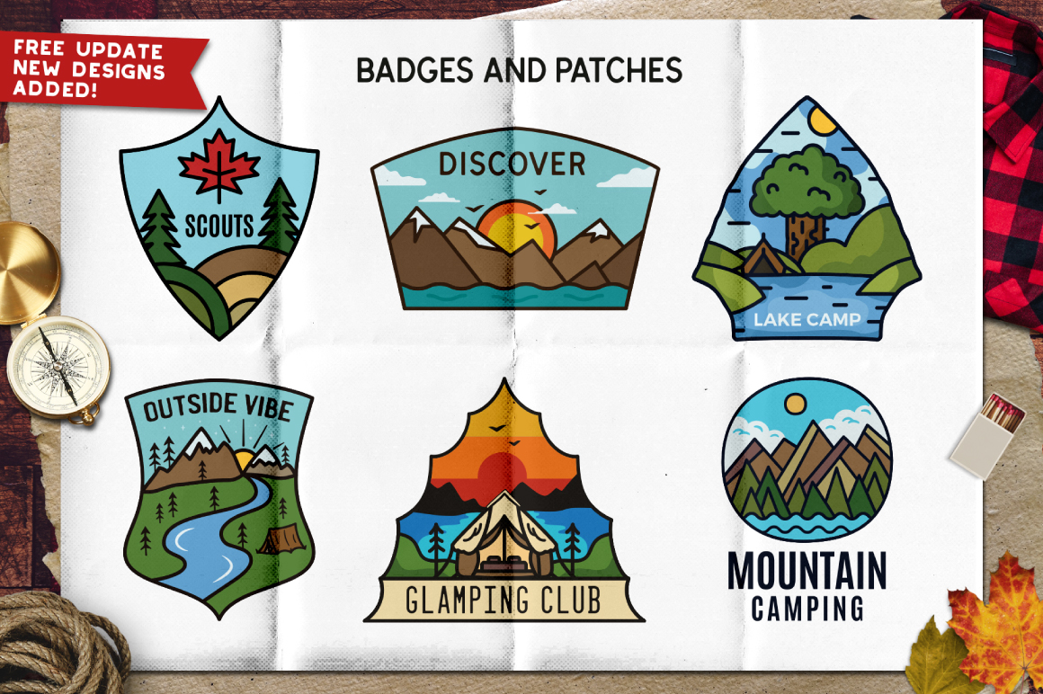 Retro Camp Badges and Patches Part 2