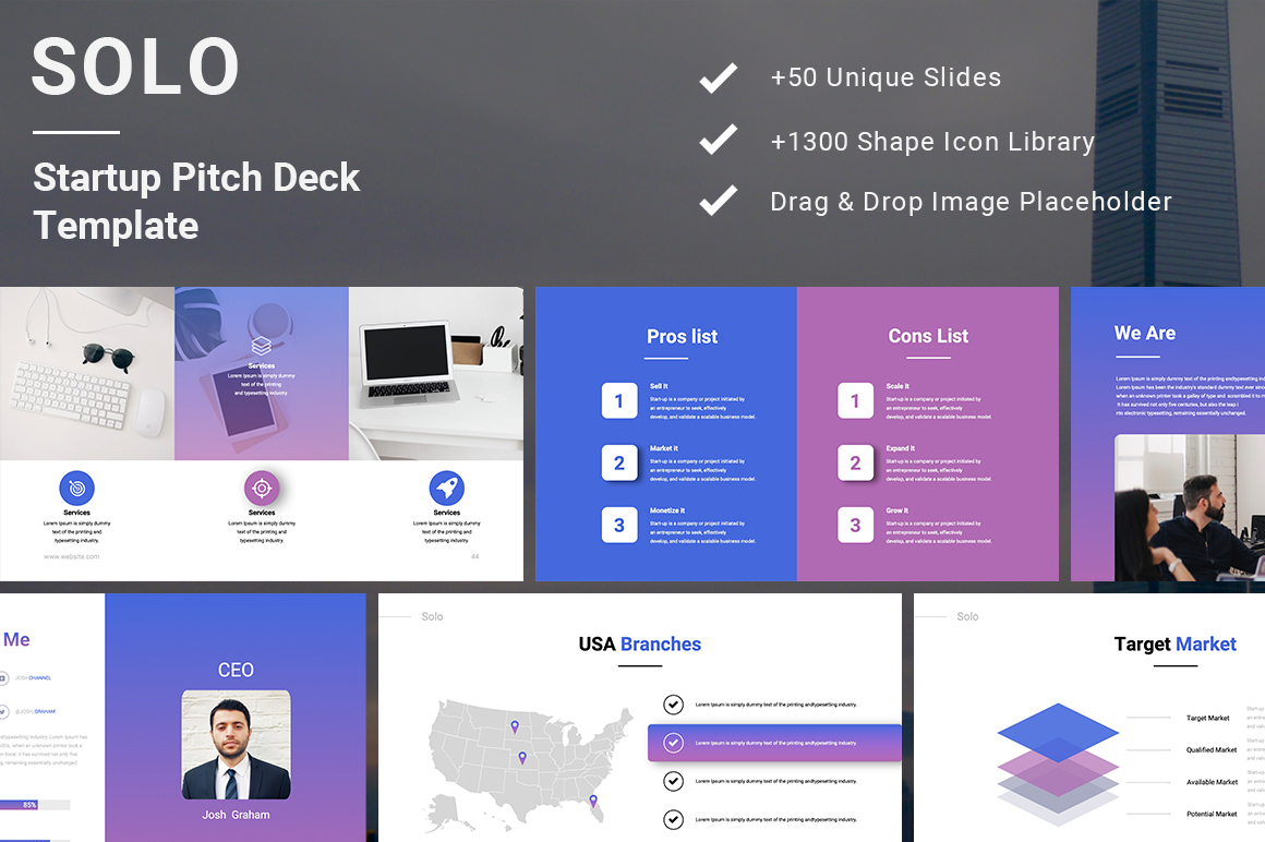 Solo Startup Pitch Deck Googleslide Template