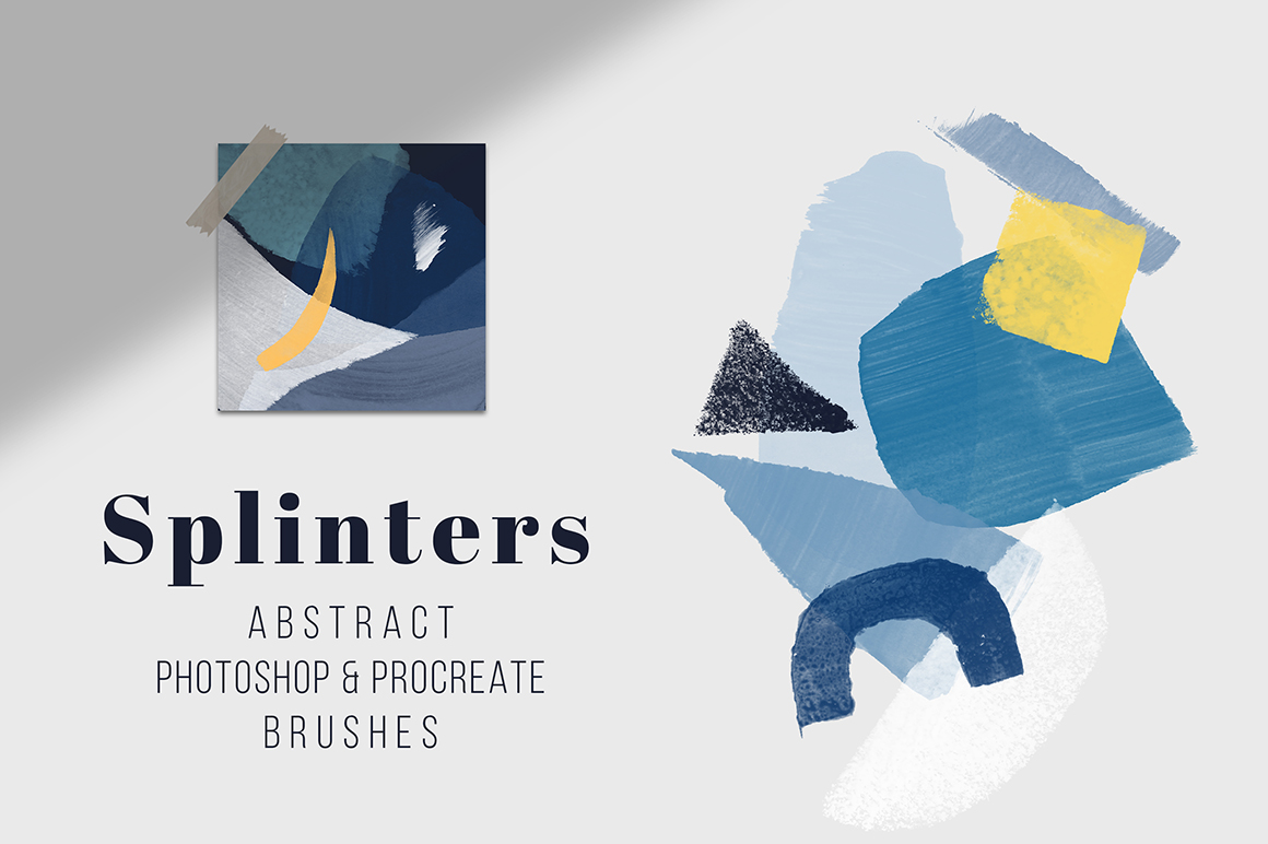 Splinters - Photoshop and Procreate Stamp Brushes