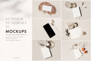 Summer Sunlight Stationery Mockups & Photos II