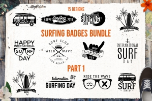 Summer Surfing Logos & Elements Vol.1