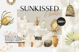 Sunkissed Dried Palms and Boho Interiors