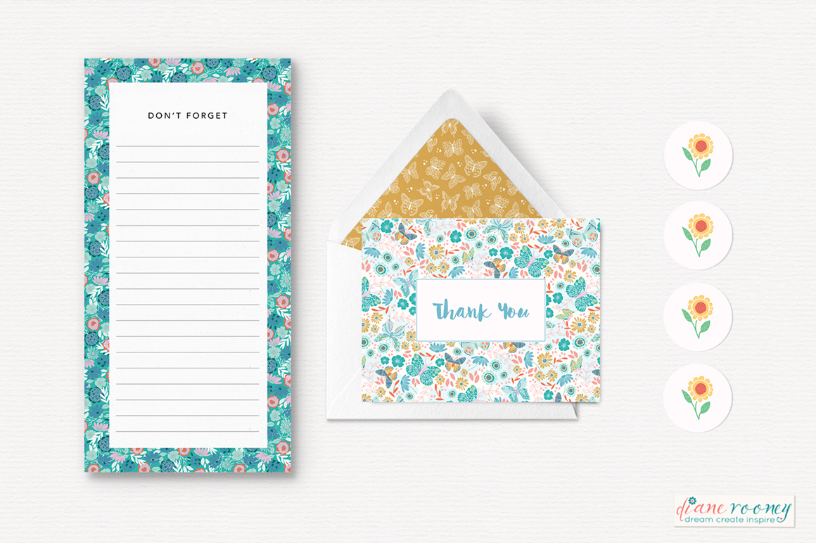 Sweet May Floral Patterns and Graphics